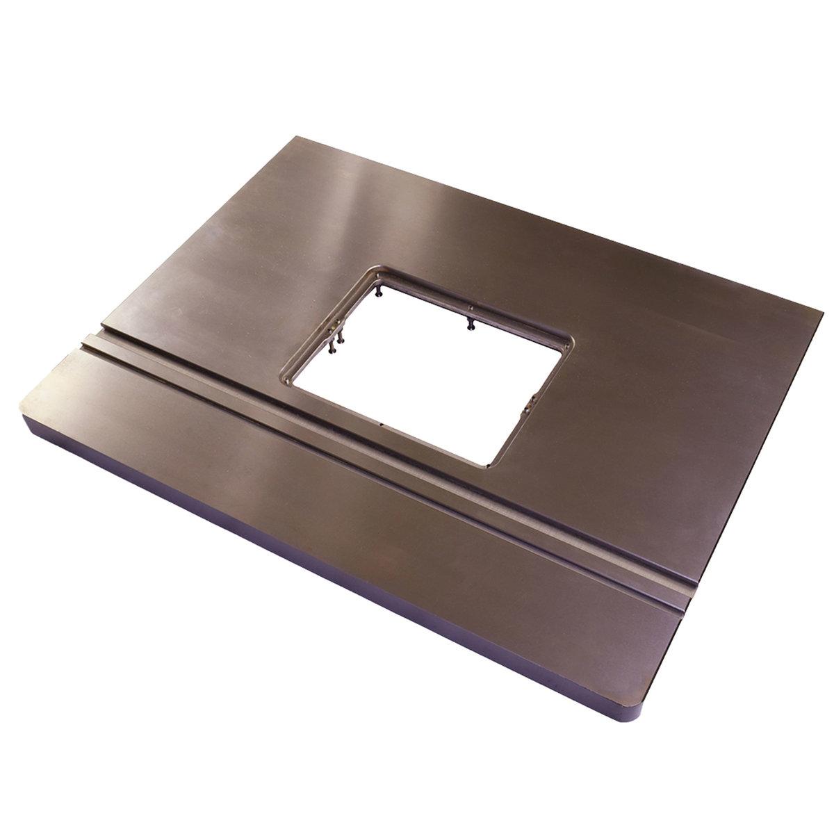 หน้าโต๊ะเร้าเตอร์เหล็กหล่อ หนัก 45 กก