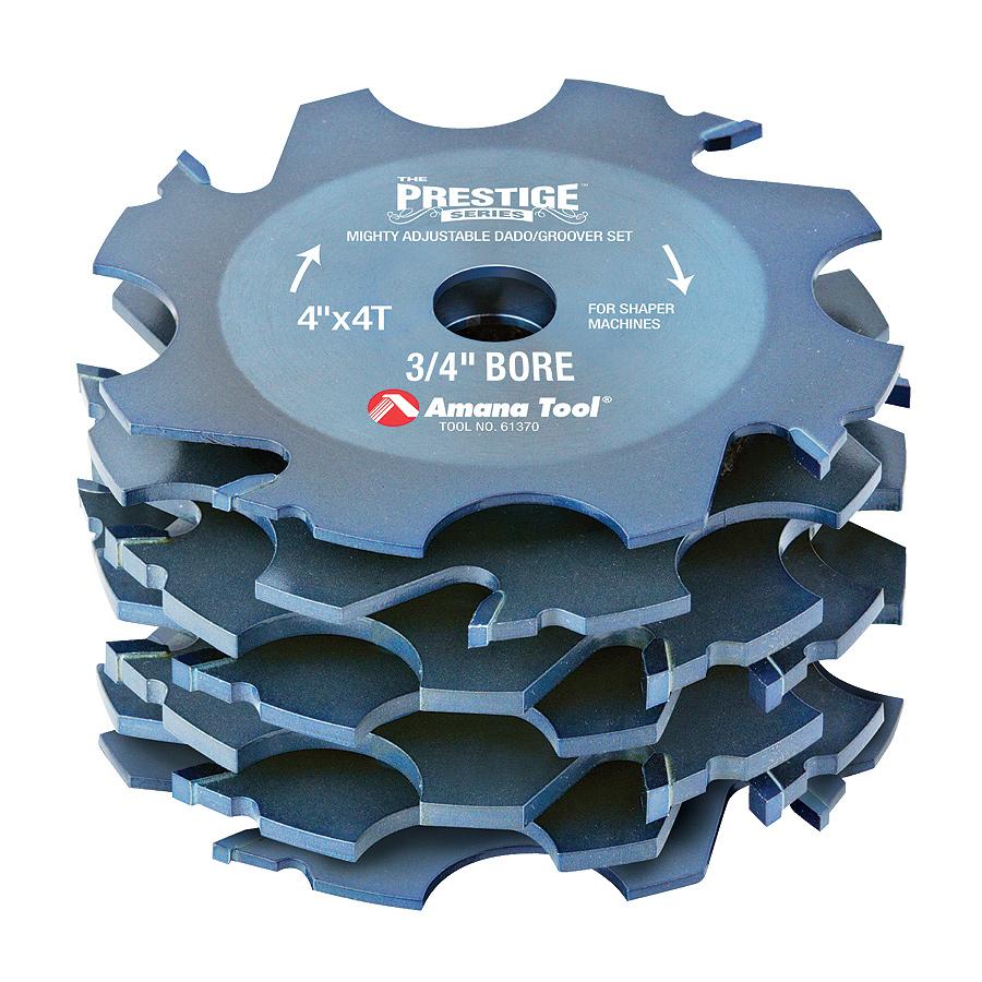 Amana tool 61370 Prestige Carbide Tipped Super Fine Dado/Groover สำหรับเครื่องเพลาตั้ง
