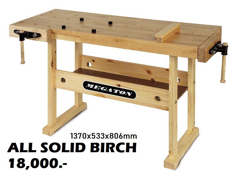โต๊ะงาานไม้ MEGATON ALL SOLID BIRCH